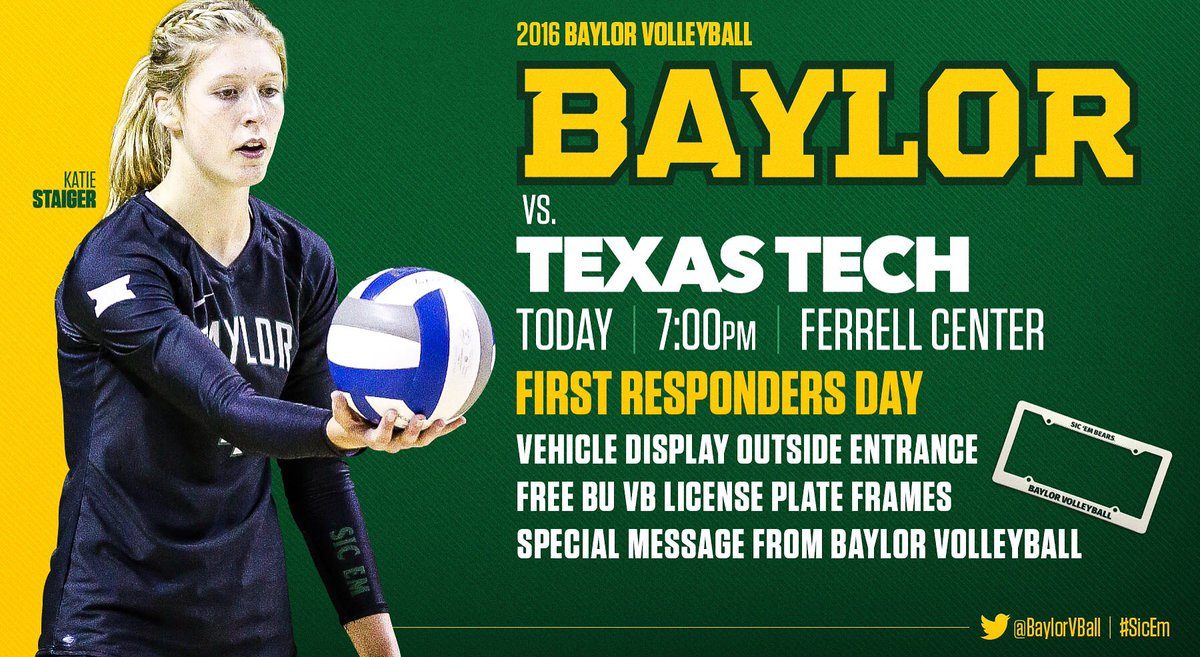 """Baylor Volleyball 的Twitter: """"#GAMEDAY! Your Bears are back at ..."""