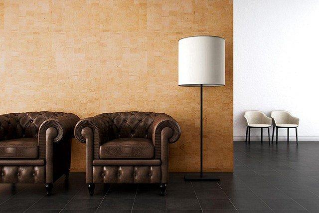 Corcho el nuevo material de moda en decoraci n de interior - Planchas de corcho para revestir paredes ...
