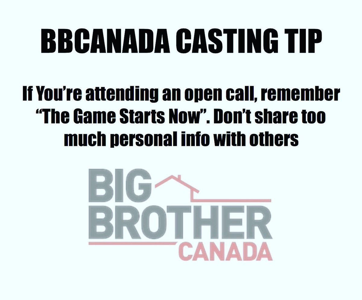 #BBCan5 #BigBrotherCanada #BigBrother #casting #auditions #NoRegrets #GameOn #Canada https://t.co/2n2cTglWB4