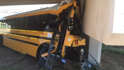 Police: Legacy High bus that crashed at DIA had no mechanical issues