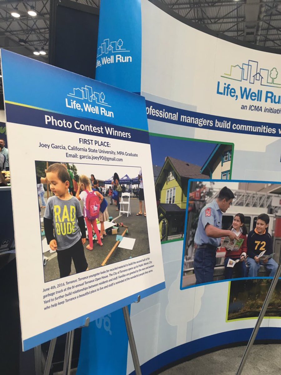 @lifewellrun represented at #ICMA2016 @Joedoespolitics
