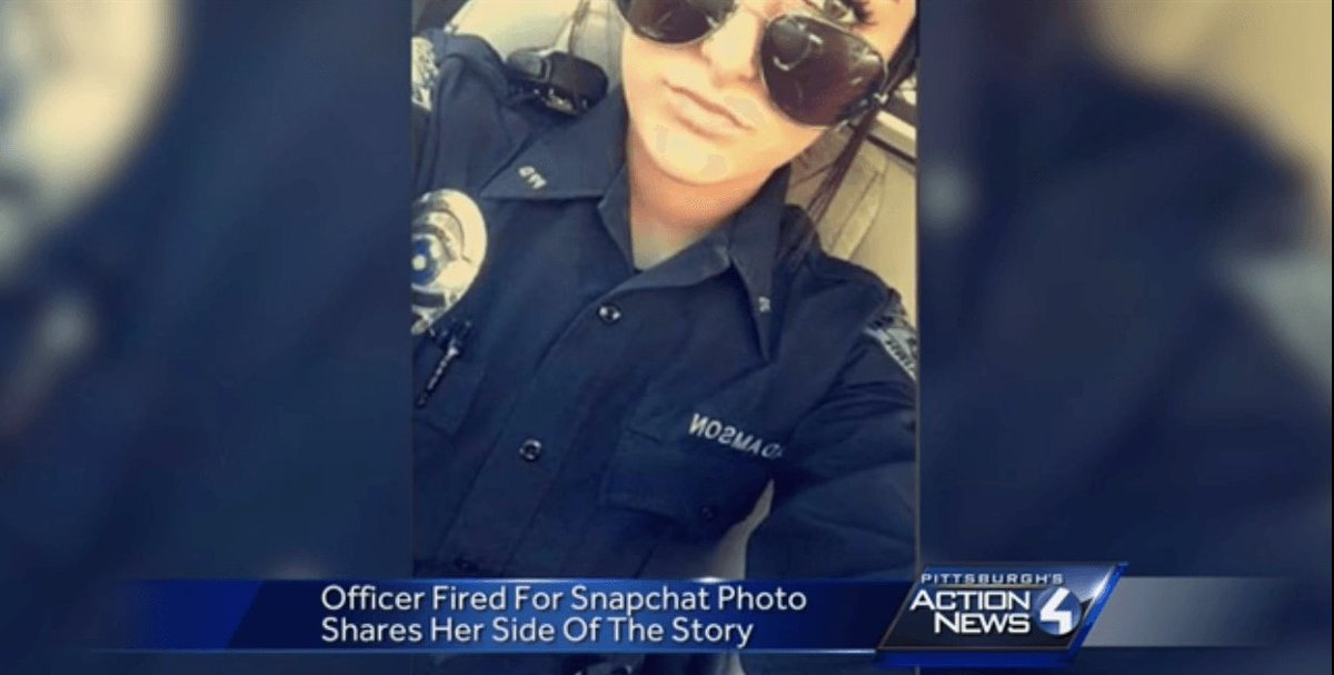 """White police officer fired after posting a selfie saying """"I""""m the law today n*gga"""": https://t.co/LJozZ2QUFT https://t.co/2xfdTR4sgV"""
