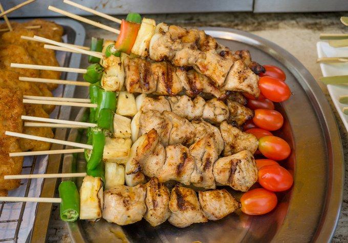 Paleo Pork & Veg Kebabs