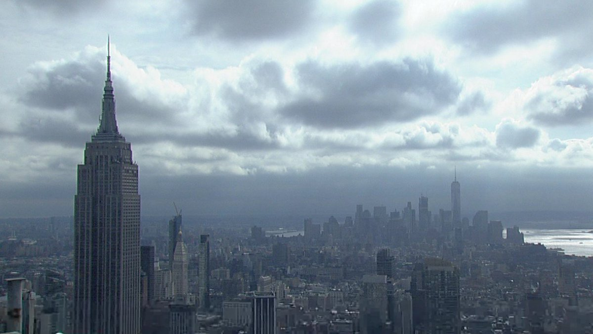 Fast moving low clouds over Gotham. abc7ny