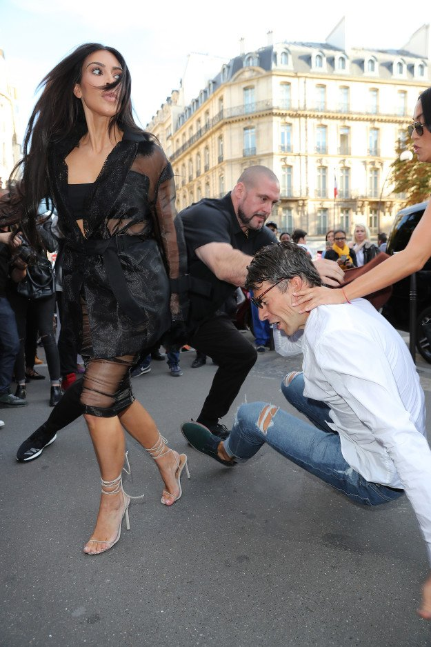 Image result for See what happened to man who tried to kiss Kim Kardashian's butt (Photos/video)