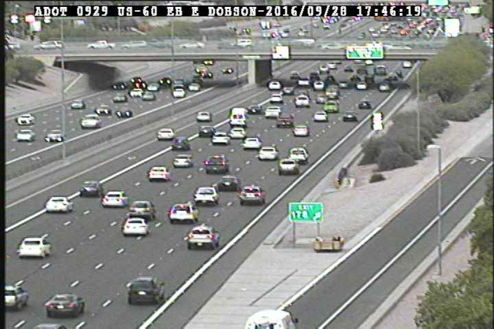 TRAFFIC UPDATE: The man is still in his wooden box at the EB US 60/Alma School exit