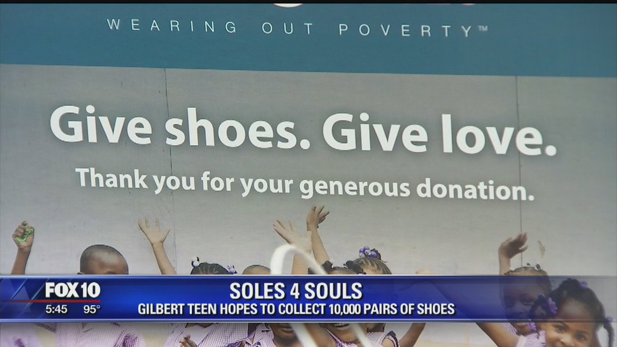 Soles4Souls: Girl collects shoes to help people worldwide @LizKotalikFOX10