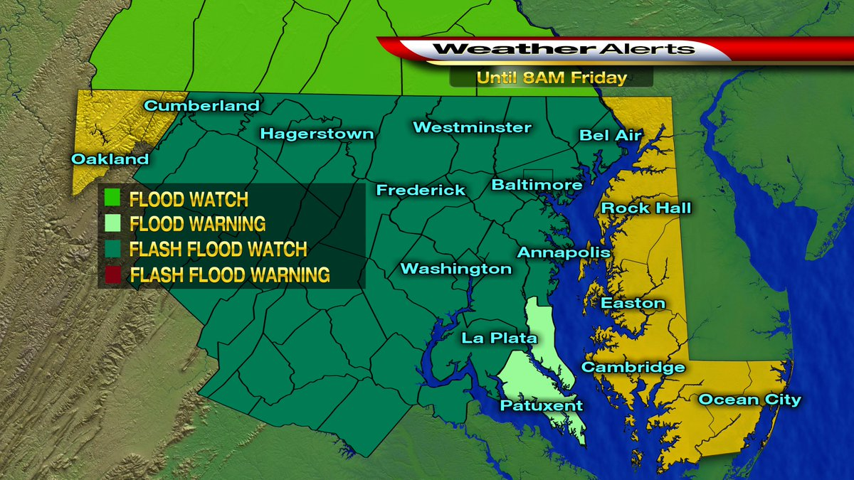 FIRST WARNING WX: Heavy rain expected across Maryland through Friday....