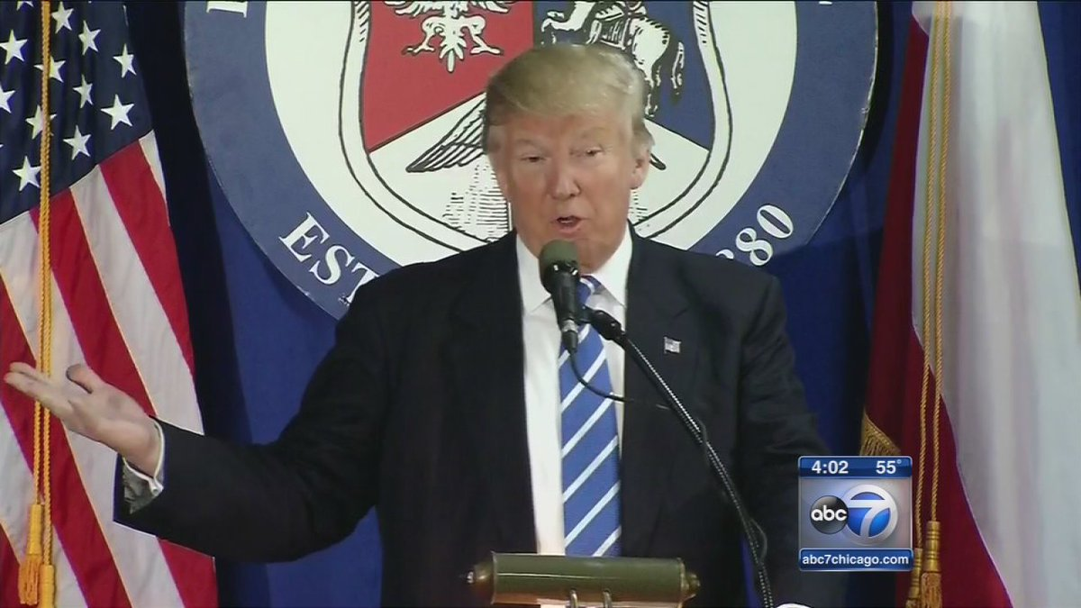 Protesters trail Donald Trump as he fundraises in Chicago area