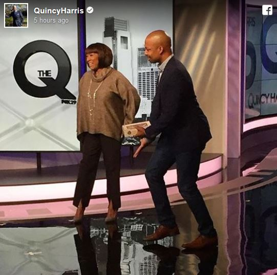 Patti LaBelle surprises Quincy on @TheQonFox .