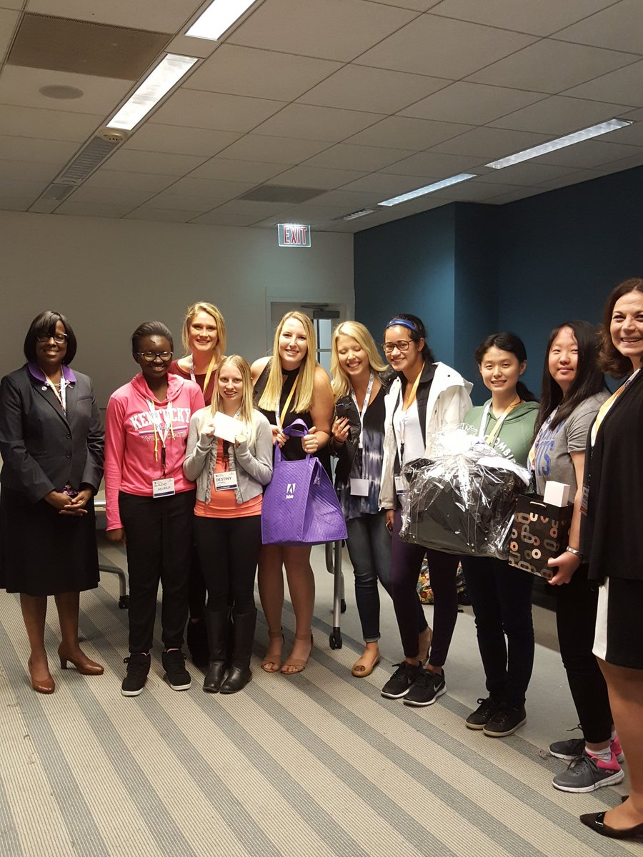 WIT Prize winners with Lt. Gov. Janeen Hampton (left) and SAP VP Regina Kunkle (right)