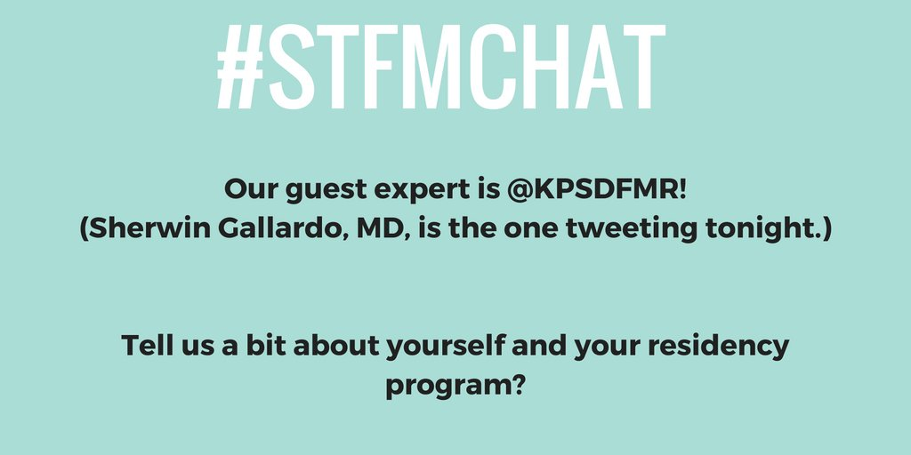 Welcome to the #stfmchat everyone! Take a moment to introduce yourselves to our guest,  @KPSDFMR. https://t.co/BBY8TKSaAW