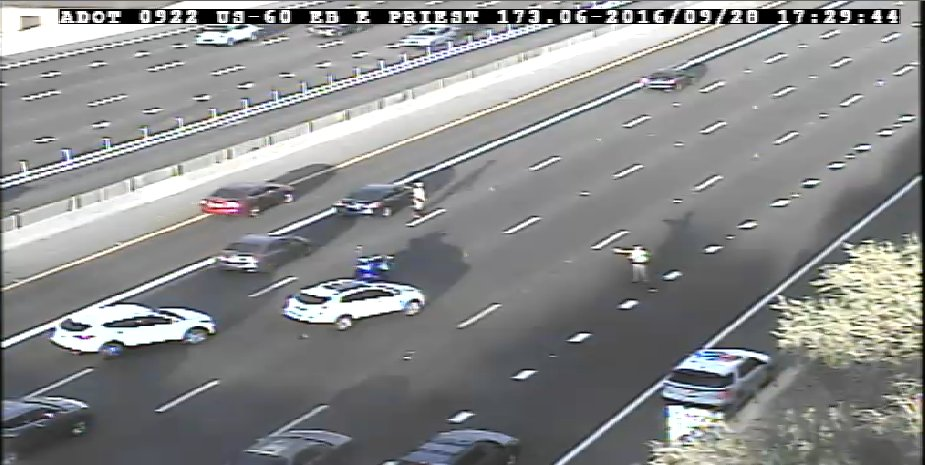 US 60 EB near Priest: A crash is blocking all but the HOV lane. PhxTraffic