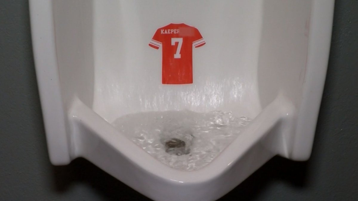 Bar owner protests Colin Kaepernick by putting his jersey in bathroom urinals