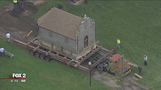 Historic church hits the road in Chesterfield Township, reports @JoshLandonFox2