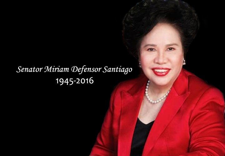 thesis on miriam defensor santiago Senator miriam defensor santiago master of arts in religious studies (without thesis) the miriam dictionary.