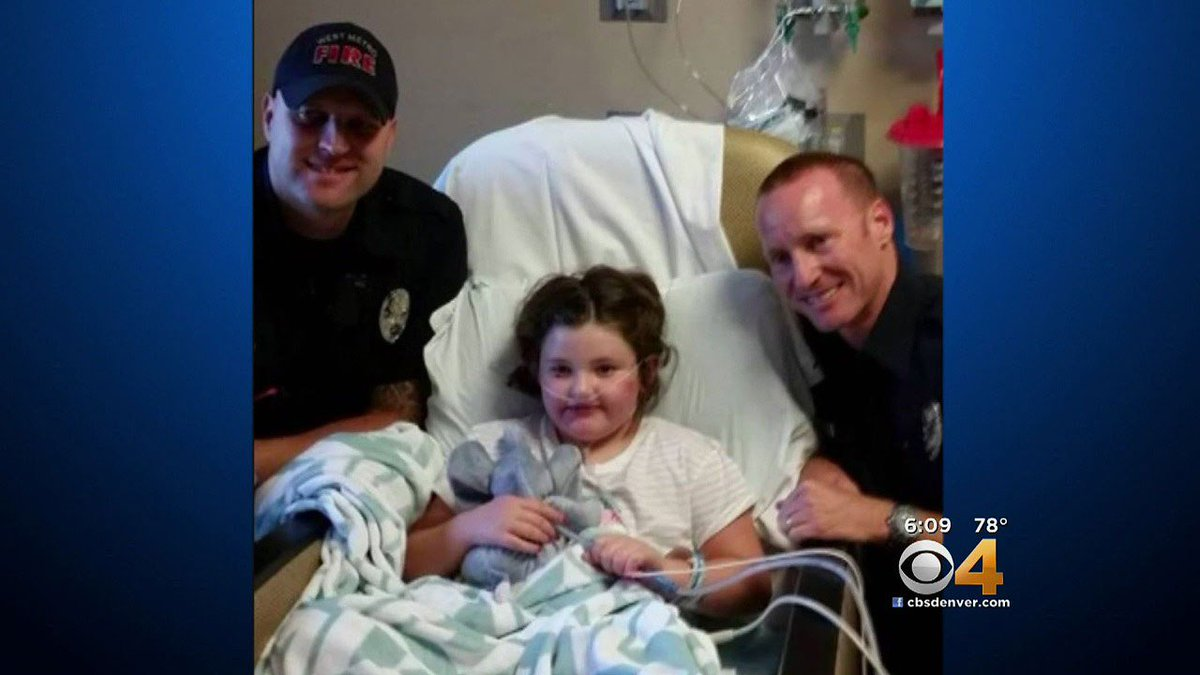 Firefighters Who Rescued Young Girl Pay Her A Special Visit