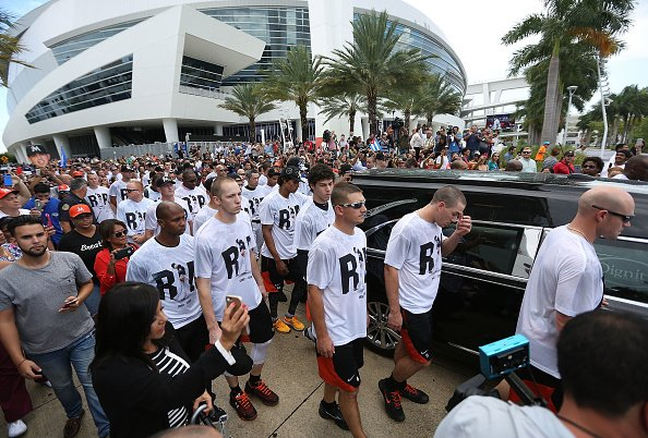 Miami, Marlins gather to say goodbye to Jose Fernandez at Marlins Park