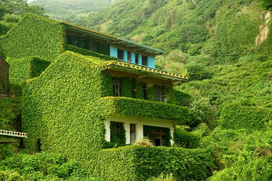 Nature takes back an abandoned Chinese village