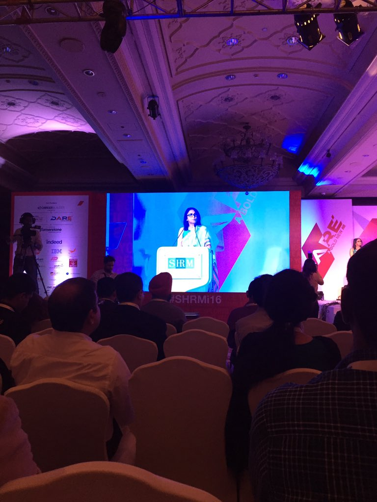 .@AchalKhanna1 welcomes all and talks about how HR has revolutionized the workplace. #shrmi16 https://t.co/mnR9KctHAl
