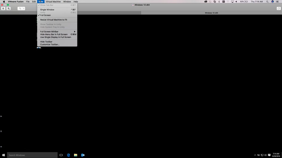 vmware fusion full screen multiple displays
