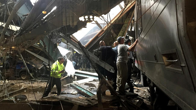More than 100 injured, some critically, in New Jersey commuter train crash