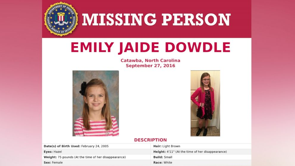 Missing 11-year-old North Carolina girl found alive, FBI says
