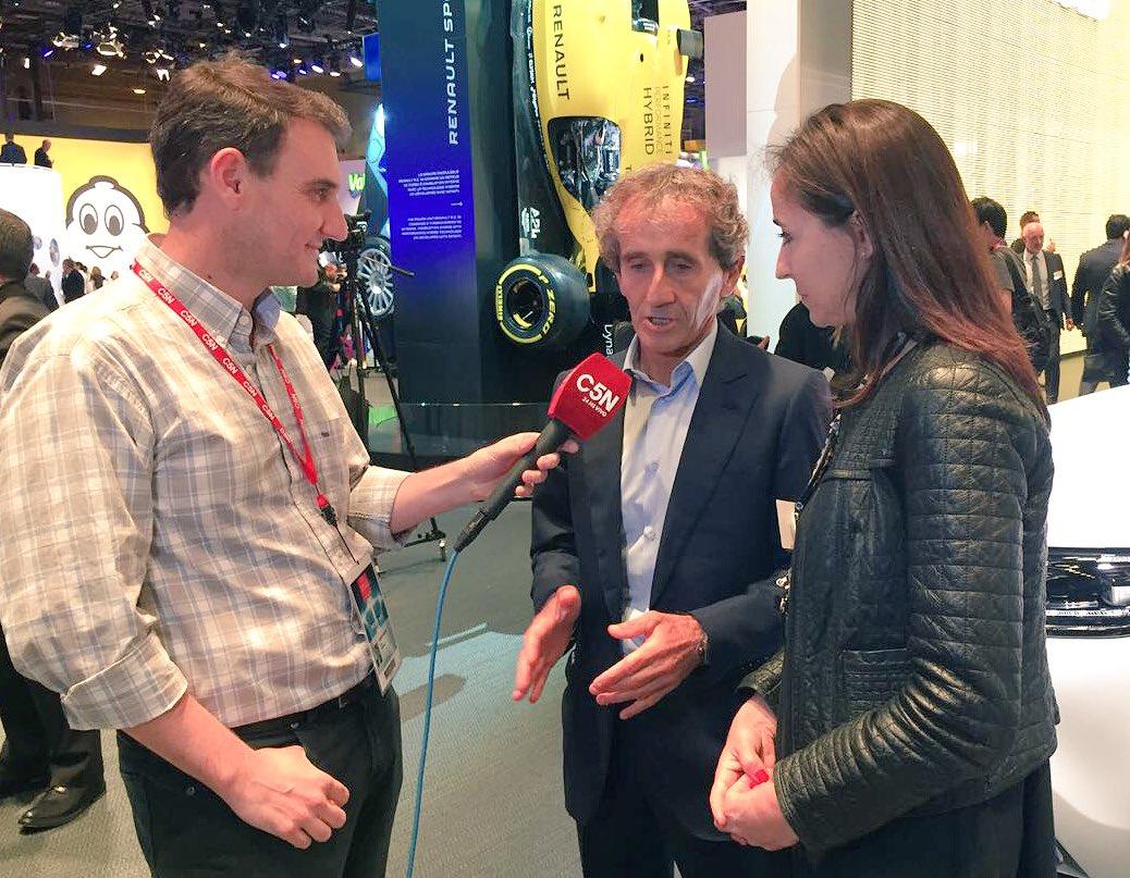 Entrevista exclusiva c #AlainProst en el #ParisMotorShow. Nos habla d su rica historia, del automovilismo actual, los autos y del @dakarpic.twitter.com/ ...