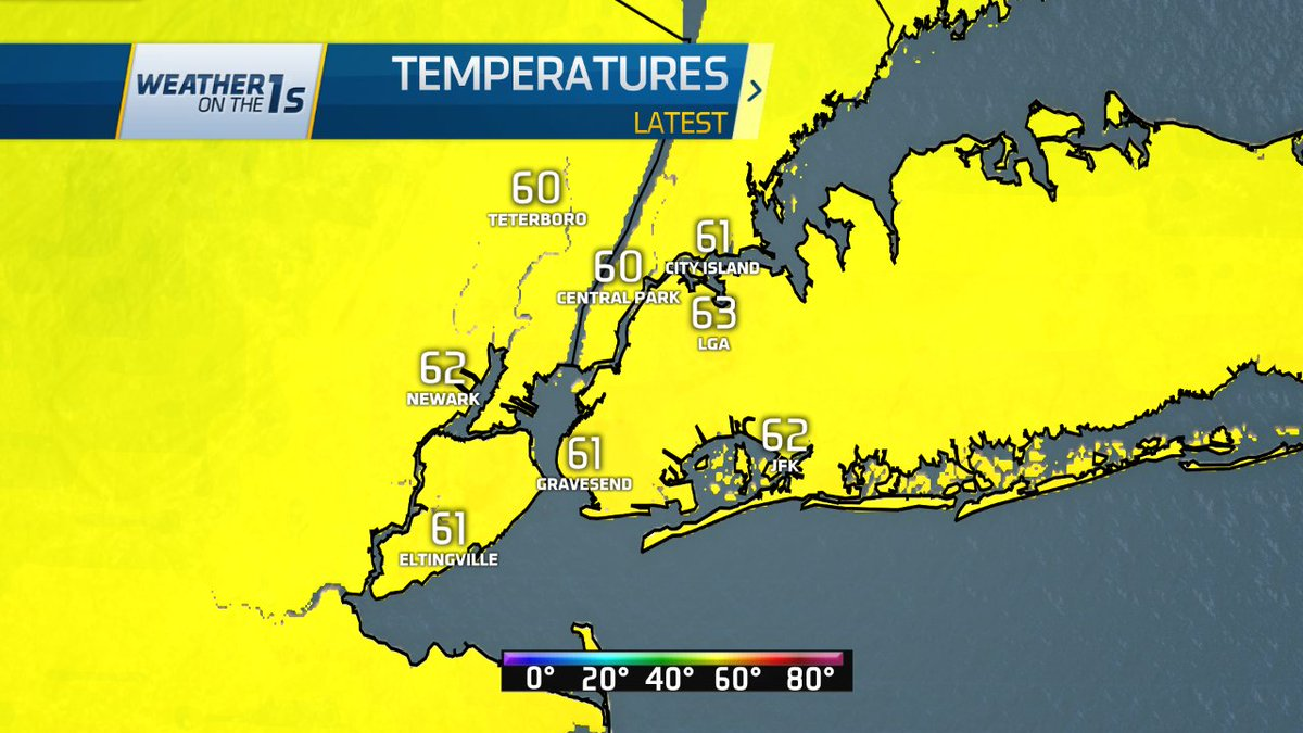 7 AM Conditions: Temperatures in the low to mid-60s. Cloudy skies, windy.