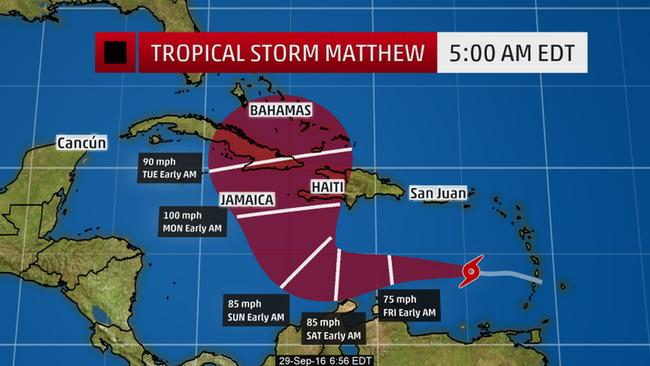 Matthew Is Expected To Become A Hurricane Friday Threat Jamaica Haiti Cuba Bahamas Next Week