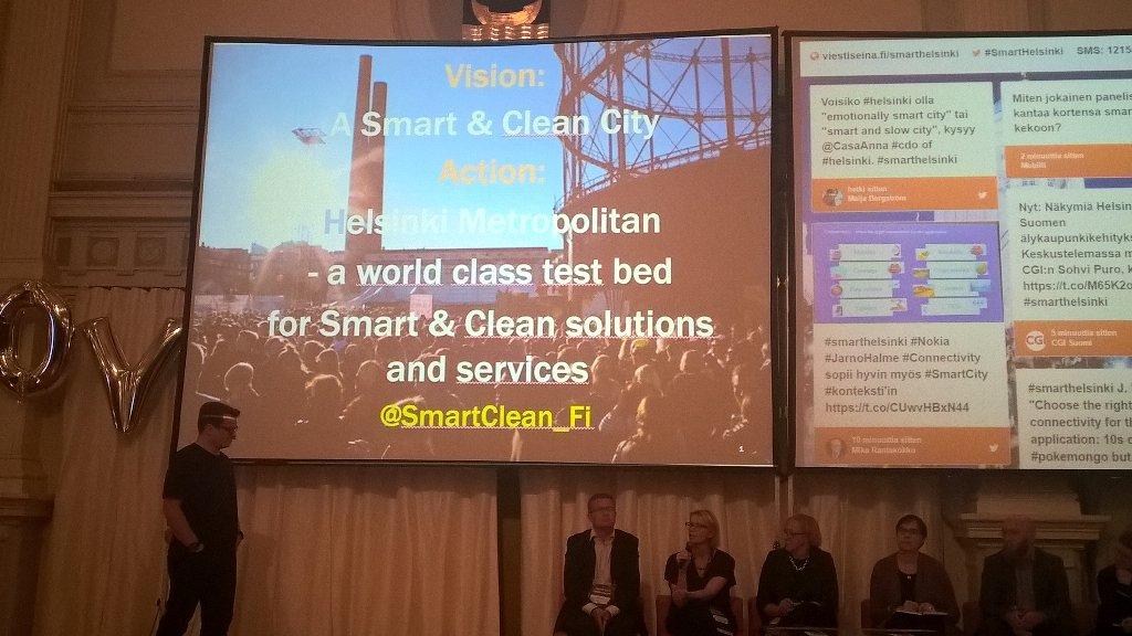 Smart & Clean City in Helsinki Smart City at City Hall #smarthelsinki @HelsinkiSmart #helsinkismart @SmartClean_FI https://t.co/yoNkKY0EAC