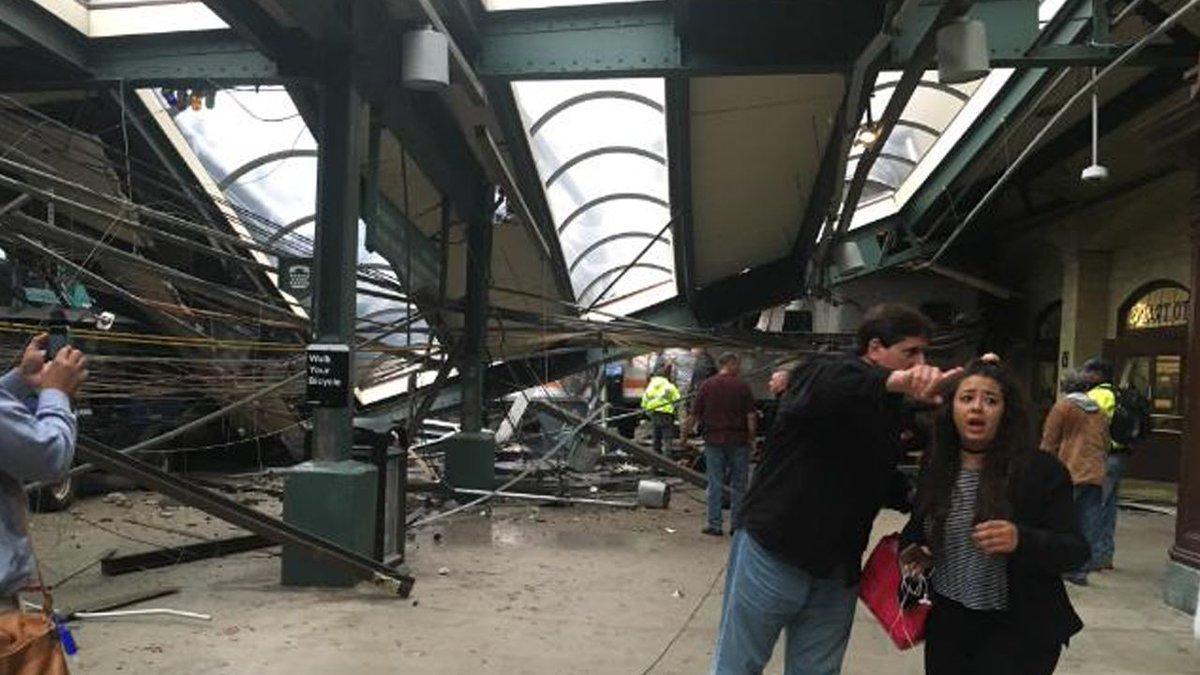 More than 100 hurt after NJ Transit train crashes into Hoboken station -