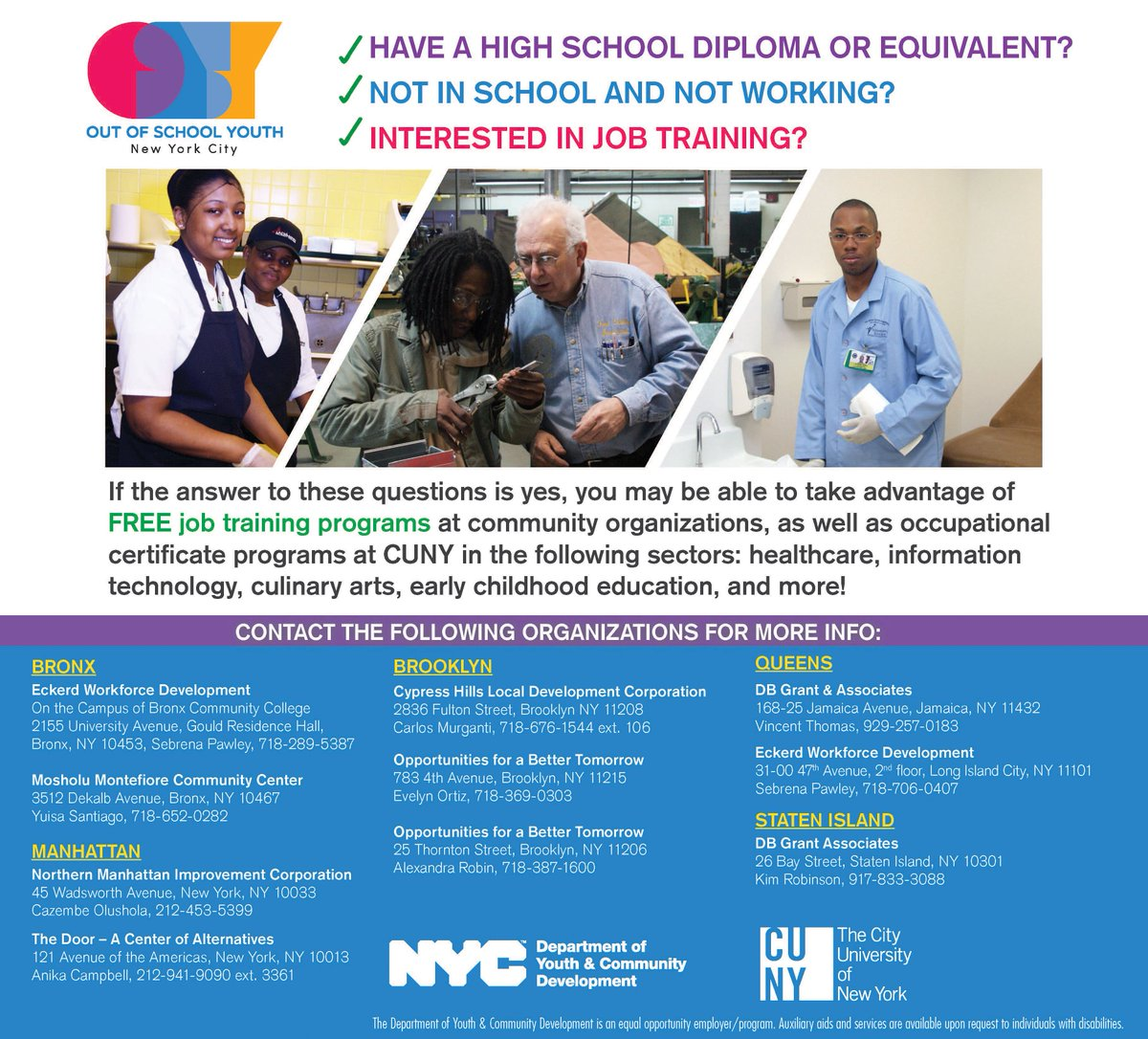 Nyc Youth Comm On Twitter Job Training At Community