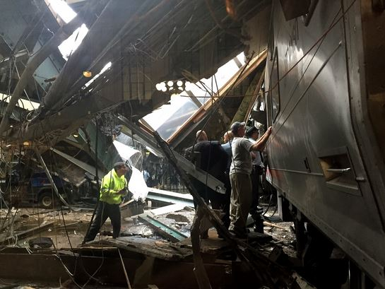 REPORT: More than 100 injured, others trapped after train crashes in New Jersey.