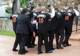 Mourners gather at the funeral of Miami Marlins pitcher Jose Fernandez