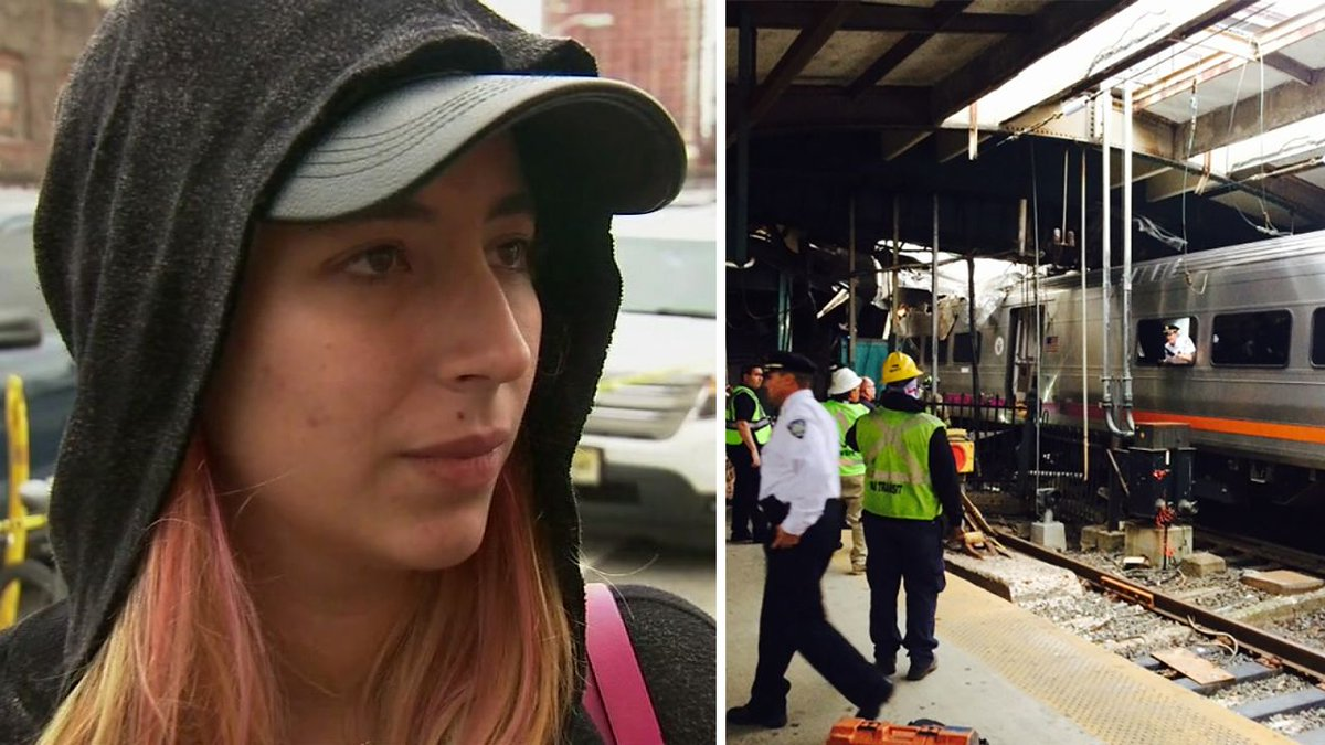 This woman gave hugs to distressed people after Hoboken train crash