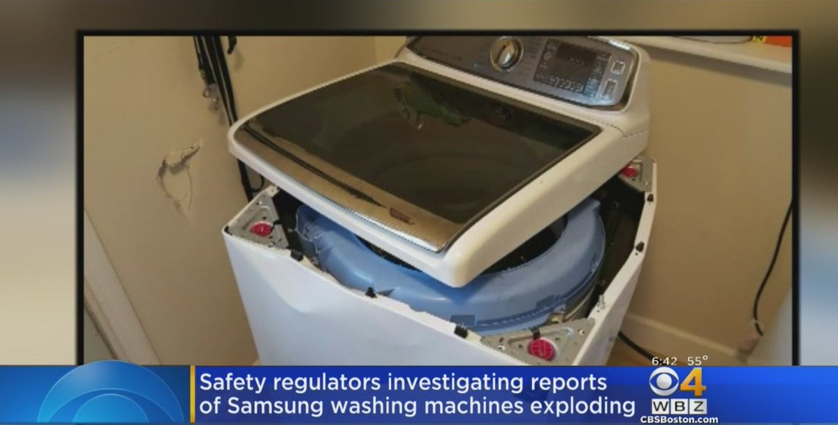 Reports of exploding Samsung washing machines prompt safety warning