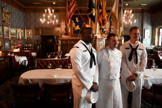 The @BrownPalace isn't just for high tea. Submarine chefs also take cooking classes there