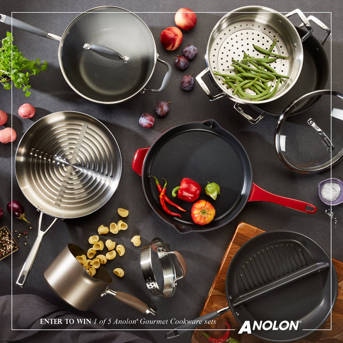Ends 10/10 >> RT to share & enter to WIN 1 of 5 Anolon Gourmet Cookware Sets: https://t.co/Tu2GBuqRJ7 https://t.co/yvGurUGLRf