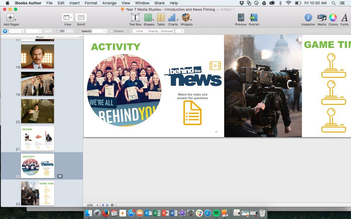 Working on improving my #iBooks after some inspiration from @linda0204 at #iplzaGC #ACARA #mediastudies