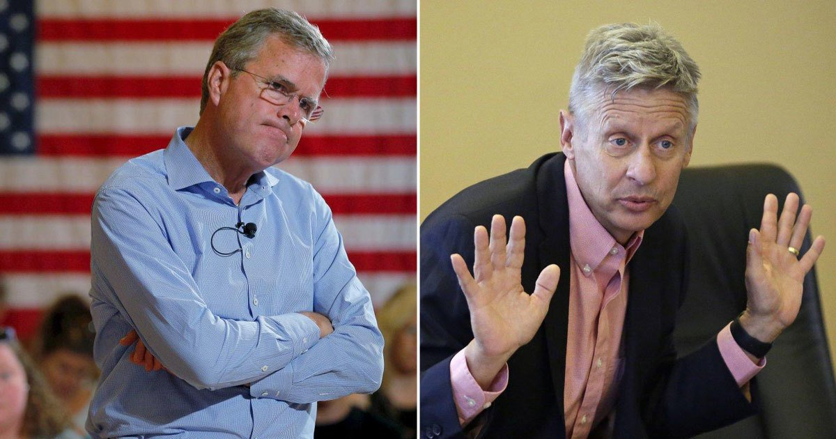 EXCLUSIVE: Jeb Bush suggests voting for Gary Johnson at private luncheon