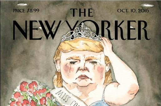 New Yorker magazine cover depicts Trump as a beauty queen