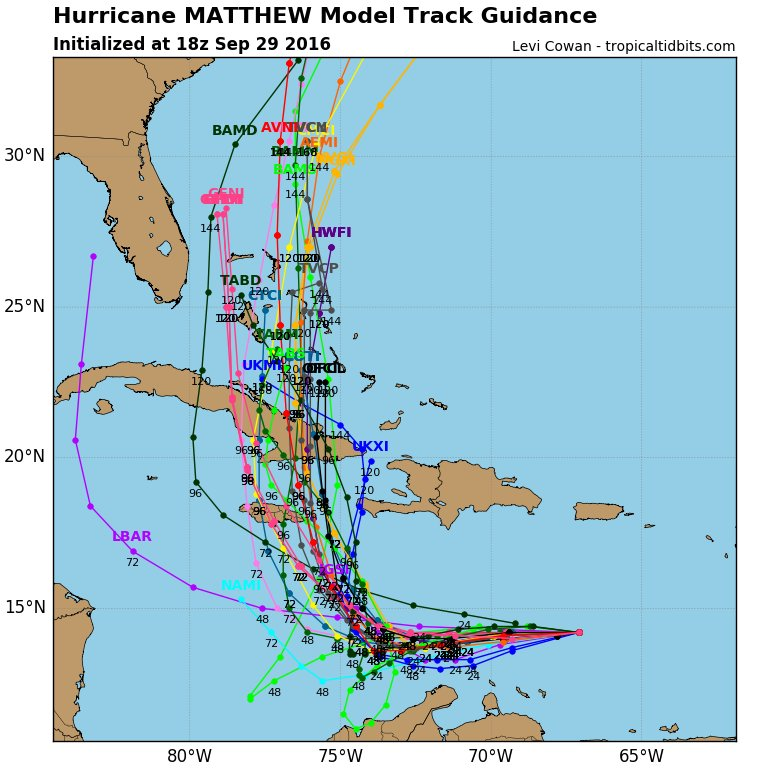 Models Continue To Trend Closer Jamaica With Nnw Moving Hurricane Matthew In 96 Hours Eastern Cuba Then Possibly Bahamas Pic Twitter Acykqnavo8