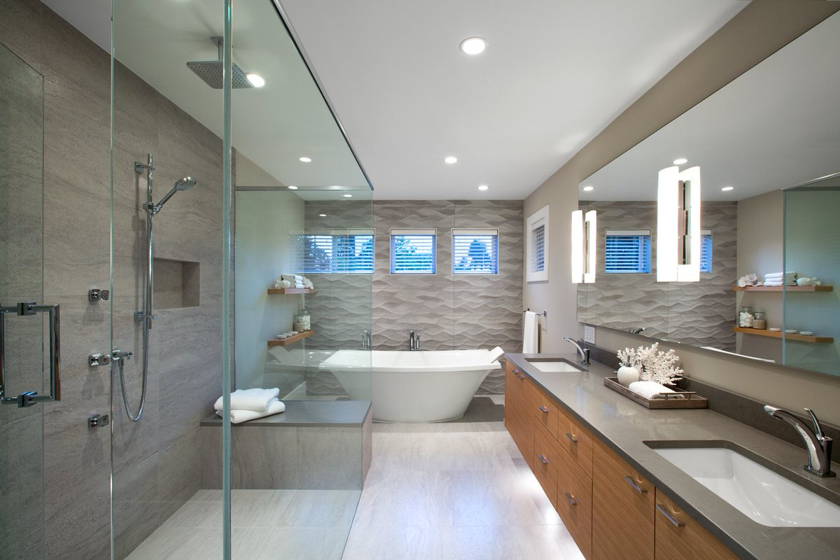 Caesarstone On Twitter Beautiful Modern Master Ensuite Bathroom Design With 4030 Stone Grey