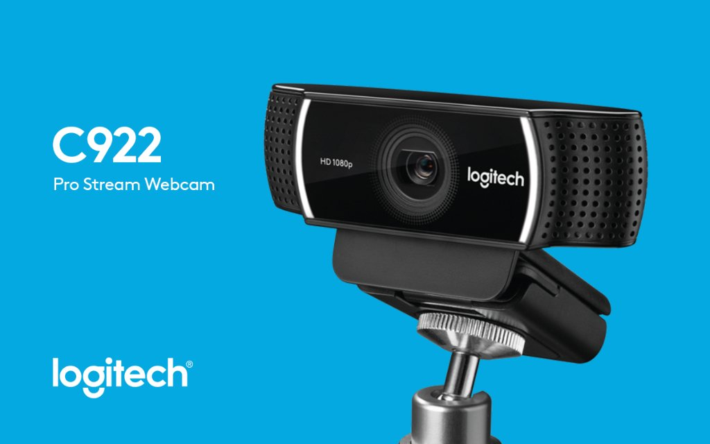 Logitech Pro C922 Stream Webcam 1080p HD Camera for Streaming Recording