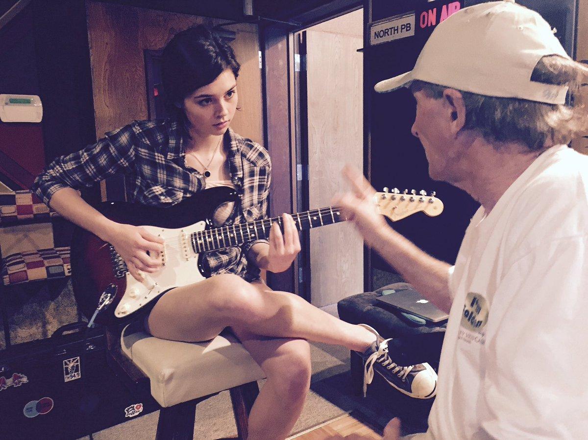 guitar in the studio