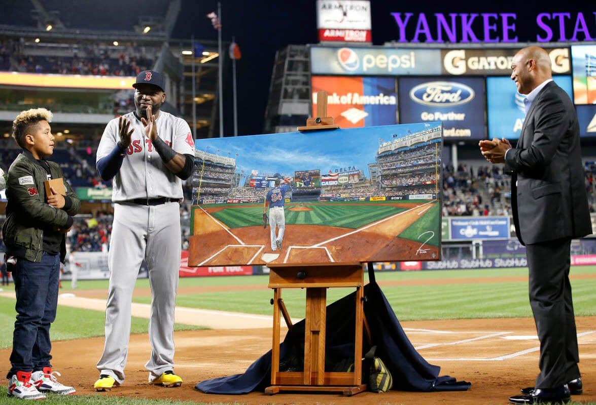 David Ortiz gets his due (and a painting) from rival Yankees