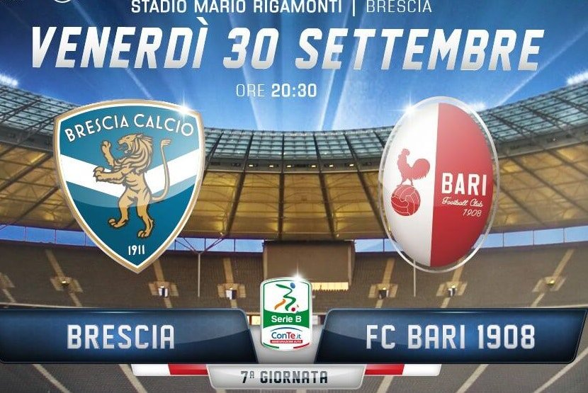 DIRETTA Brescia-Bari Streaming Gratis su TV e LIVE YouTube