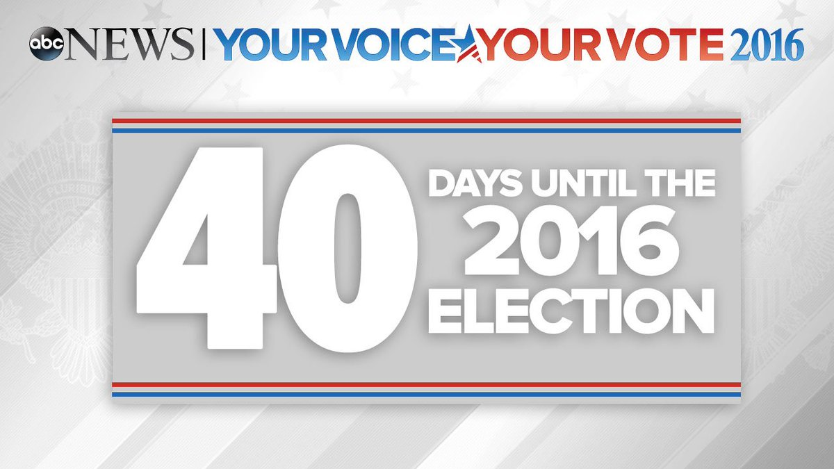 Election Day is just 40 days away.