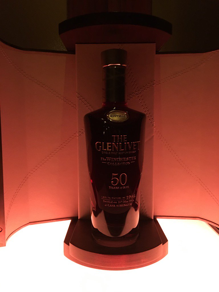 This is the $25,000 1966 Winchester Collection single malt from @TheGlenlivet...only 100 bottles for the world! https://t.co/3OZtmfhBKc